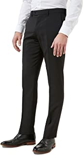 Smart Classic Men's Formal Plain Fronted Busines Office Trousers