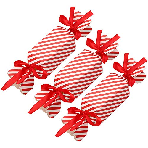 Feelava Christmas Candy Boxes 50 Pcs Christmas Treat Boxes Present Boxes DIY Party Favor Gift Boxes for Xmas Cupcake Sweets Dessert Cookie Kids Party Favor Bag Wedding Gifts Wrap Bag