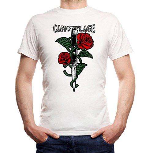 Certified Freak Knife Roses T-Shirt Boys White L