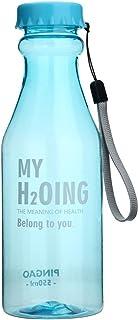 STRIR Botella de Agua Deporte 550ml, Eco-Friendly de plastico - sin BPA, Reutilizables Botellas Agua para niños, Sport, Yoga, Gym, Oficina, Senderismo, Viajes Agua Botella a Prueba de Fugas