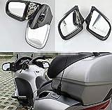 Fucaiqian CCH-HS Mirrors, 2pcs Motocicleta del Cromo carenado de Montaje Lateral Espejo retrovisor Ajuste for BMW K1200 K1200LT K1200M 1999-2008 00 01 02 03 04 05 06 07