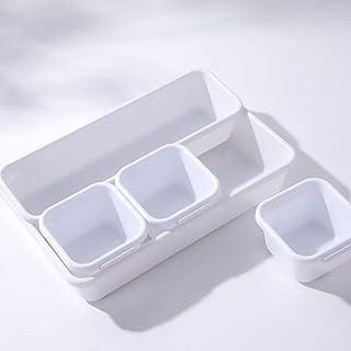 8pcs Tiroir Organisateur Bacs en Plastique Boîtes De Rangement Diviseur pour Les Cosmétiques Maquillage Cuisine Bathroon B...