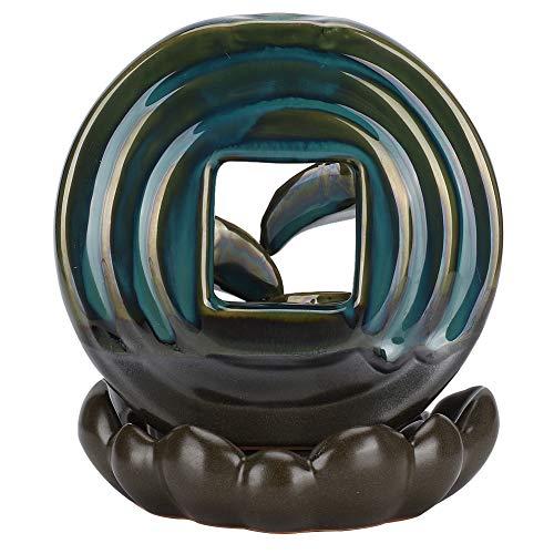 JULYKAI Cascade Incense Burner, Weihrauchbrenner mit runder Basis, für Yoga-Meditation