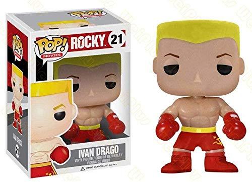 brandless Funko Pop Around Rocky Ivan Drago Boxer Figura de decoración Hecha a Mano para muñecas