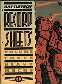 Best battletech mech sheets Reviews