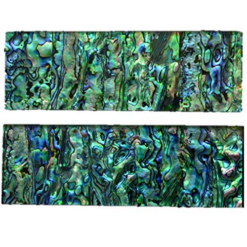 Aibote 1 Paar Natürliche Neuseeland Bunte Abalone Shell Messer Griff Skalen Griffe Platten Messer Benutzerdefinierte DIY Material für Leere Klingen Schmuckherstellung(Jedes Paar ist Einzigartig)