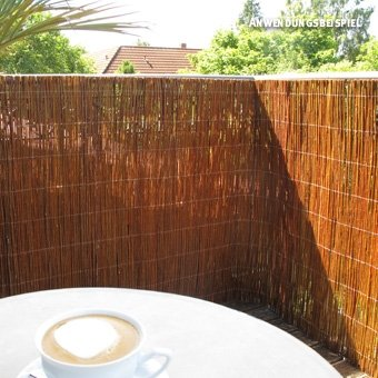 Videx-Sichtschutzmatte Weide, hell Champagne, 150 x 300cm