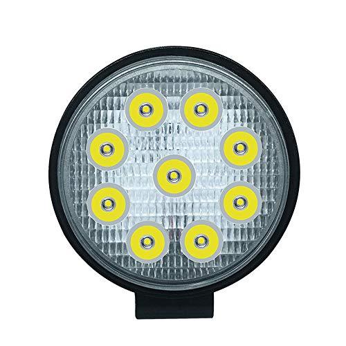 Barra de luz de trabajo LED de 27 W, 4 x 4, 12 V24 V, luz de carretera para camiones, niebla, conducción