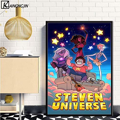 PCWDEDIAN Steven Universe Art Poster Big Donut Hot Anime Carteles E Impresiones Pared Imagen Lienzo Pintura Niños Habitación Decoración del Hogar U1164 40X50Cm