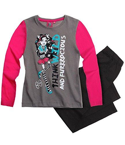 Monster High Mädchen Pyjama-Set mit langen Ärmeln Gr. 140 cm, design 3