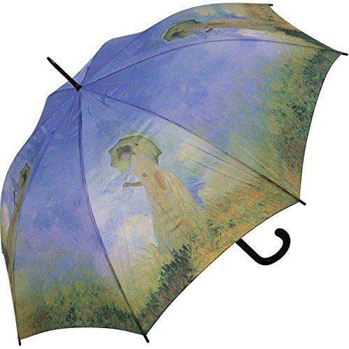 Regenschirm Motiv Claude Monet Frau mit Sonnenschirm Stockschirm Automatik