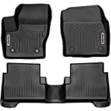 OEDRO Floor Mats Compatible for 2015-2019 Ford Escape, Unique Black TPE All-Weather Guard Includes 1st and 2nd Row: Front, Rear, Full Set Liners