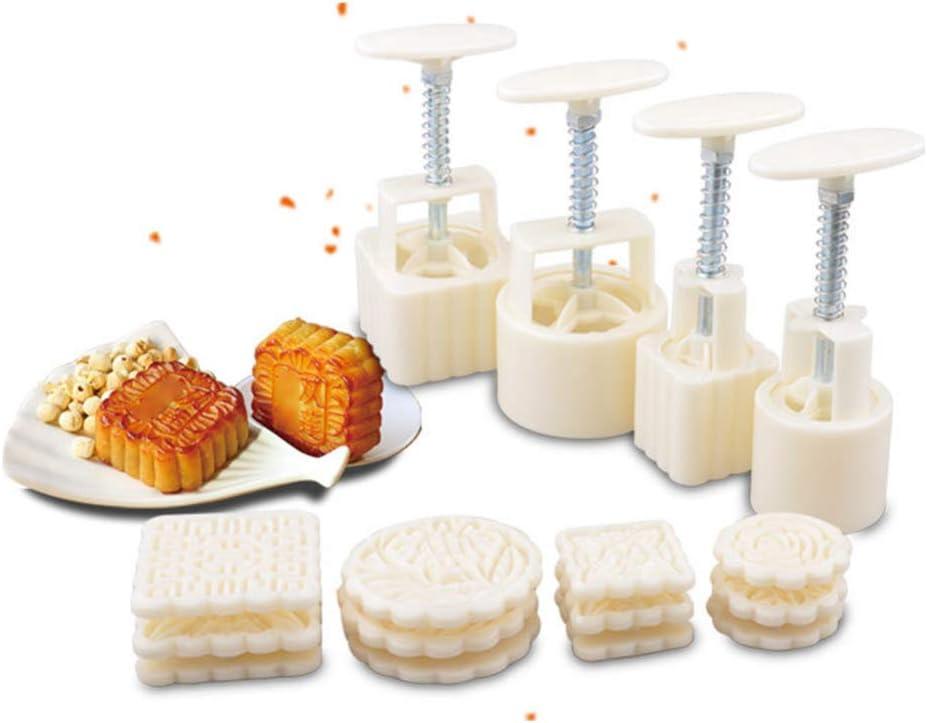Yardwe 16 35% OFF Pcs Mooncake Mold Hand-Pres Round 50-100g Press Max 41% OFF Square