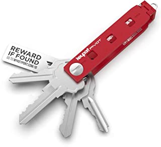 Keyport Pivot 1.0 Key Organizer - Multi Key Holder for Keychain with KeyportID Lost & Found (Red)