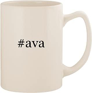 #ava - White Hashtag 14oz Ceramic Statesman Coffee Mug Cup