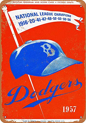 Brooklyn Dodgers Last Game in Brooklyn Metal Plaque Tin Wall Sign Retro Iron Painting Warning Wall Poster for Cafe Pub Bar Gaming Room Wedding Gift