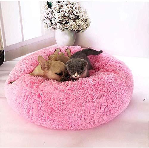 MISLD Deluxe Huisdier Bed voor Katten en Honden Pluche Donut Huisdier Bed Warm Knuffel Kennel Zachte Puppy Bank Kat Kussen Bed Slaapzak