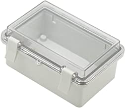 Zulkit Junction box ABS Plastic Dustproof Waterproof IP65 Electrical Boxes Hinged Shell Outdoor Universal Project Enclosure Grey Clear/Transparent Cover With Lock 5.9 x 3.9 x 2.8 inch (150x100x70 mm)