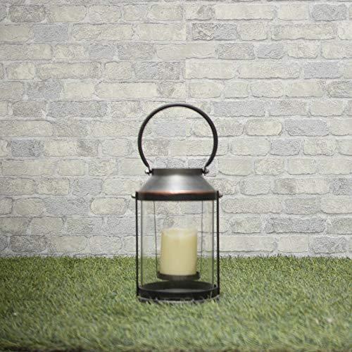 chemin_de_campagne Lanterne Fer à Bougie Intérieur Extérieur 40 cm