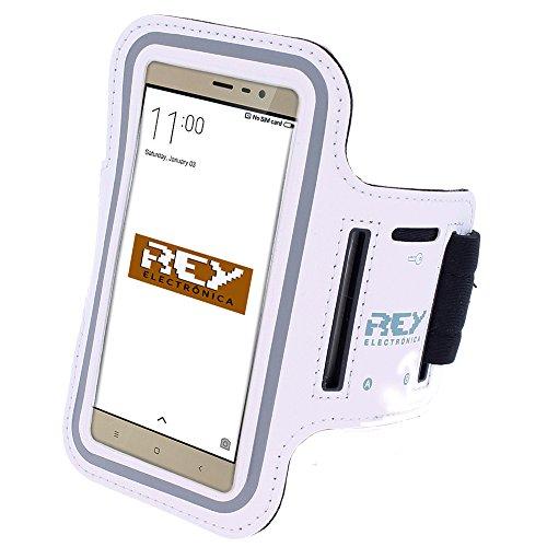 Brazalete Deportivo Reflectante para Smartphones Desde 5,5' hasta 6,3', en Color Blanco