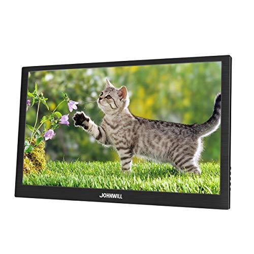 JOHNWILL 14 Zoll 4K Gaming Monitor tragbarer Monitor FHD 3840 x 2160 IPS-LCD-Monitor mit HDMI-Eingang, eingebautem Lautsprecher, Gaming-Monitor Unterstützung PS3/PS4/XBOX