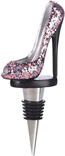High Heel Sparkly Shoe Wine Bottle Stopper, Multicolor-2.5 x 1 x 5.5 inches