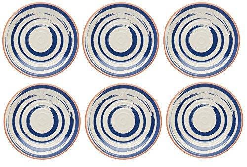 Kitchen Craft The Great Outdoors - Melamina irrompible (20,5 cm, 6 Unidades), Color Azul y Naranja, melamina, Azul y Naranja, 21.5 cm (Set of 6)