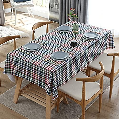 Mantel de PVC de Tela Escocesa de celosía Retro Hogar Cocina Restaurante Decoración a Prueba de Aceite Mantel de Fiesta de Chimenea a Prueba de Aceite 140x220cm 3