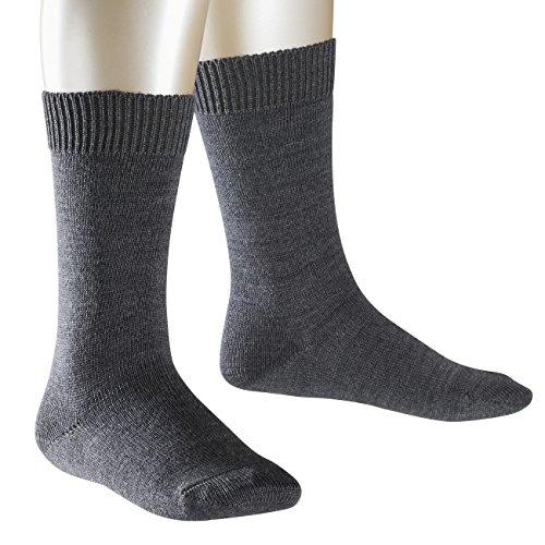 FALKE Kinder Socken Comfort Wool 3er Pack, Größe:23-26;Farbe:dark grey melange