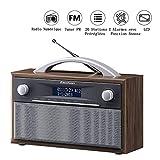Excelvan Radio FM Portable Digital avec Poignée Radio Polyvalent DAB+ FM Média Main Libre Double...