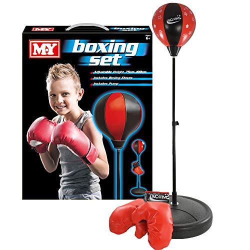 M.Y Kids Boxing Bag with Gloves | Freestanding Adjustable Punch Bag for Juniors