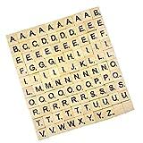 100pcs De Letras Negras Z Madera Azulejos Rompecabezas Alfabetos Artesanía De Mesa