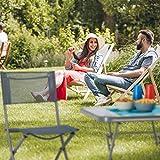 Relaxdays Klappstuhl Balkon, Metall, Kunststoff, Gartenstuhl, HxBxT: 87 x 55 x 48,5 cm, Balkonklappstuhl, anthrazit grau - 6