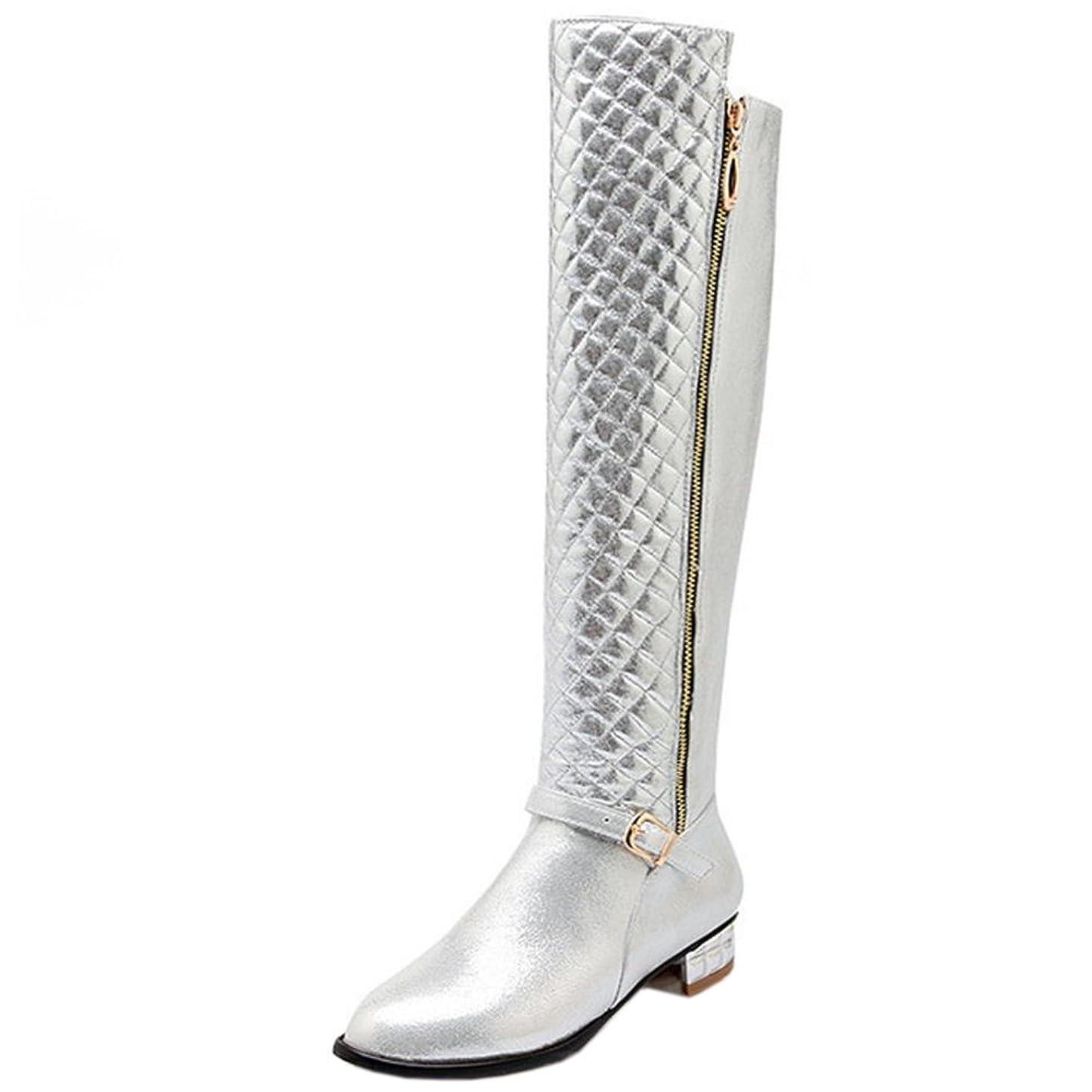 引き渡す小さい分泌する[KemeKiss] レディース ファッション ロングブーツ サイドジップ ニーハイ ブーツ 大きいサイズ