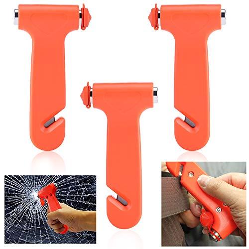 WENTS Auto Notfallhammer Hammer Sicherheit für Autos Window Breaker und Escape Notfall-Werkzeug für Schneiden der Gürtel der Sicherheit 3Pcs