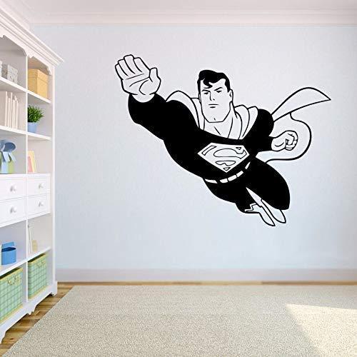 Decoración Del Hogar Superman Pegatinas De Pared Héroe Extraíble Volando Vinilo Tatuajes De Pared Habitación De Los Niños Mural De La Pared Decoración Interior Del Hogar 75X61Cm