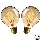 Lampadine vintage E27 40W, Retro lampada decorativa Edison G80 Lampadina regolabile a fila...