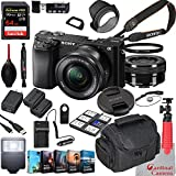 Sony Alpha a6100 Mirrorless Camera with 16-50mm Lens Bundle + Extreme Speed 64GB Memory + (28 Items)