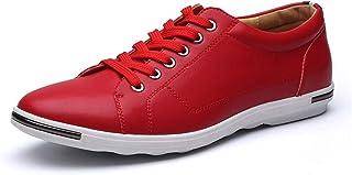 Scarpe Uomo Casual in Pelle Taglie Forti 48 Scarpe da Ginnastica Sneaker da Passeggio in Tinta Unita Traspiranti Moda Uomo