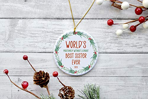 Lplpol Sister Ornament 2020 Best Sister Ever Gifts Best Sister Christmas Ornament Sister Gifts for Women Sister Gifts from Sisters