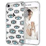 MOSNOVO Coque iPhone 8, Coque iPhone 7, Mauvais Yeux Clair Design Motif Transparente...