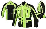MBS MJ21 James Motocicleta Motocicleta larga chaqueta de viaje textil (amarillo, L)