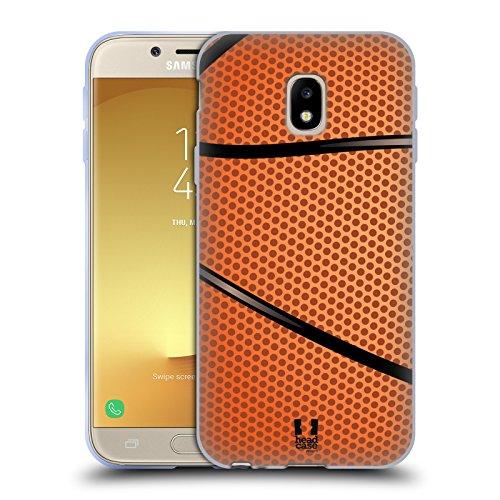 Head Case Designs Baloncesto Colección de Bolas Carcasa de Gel de Silicona Compatible con Samsung Galaxy J3 (2017)