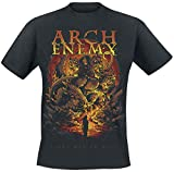 Photo de Arch Enemy First Day in Hell Homme T-Shirt Manches Courtes Noir L, 100% Coton, Regular/Coupe Standard