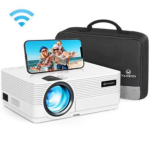 WiFi Beamer 5000 Lumen, VANKYO Leisure 470 Wireless Beamer, Support 1080P Full HD Heimkino Beamer WLAN, kompatibel mit TV Stick, HDMI, SD, AV, VGA, USB, PS4, X-Box, iOS/Android Smartphone Projektor