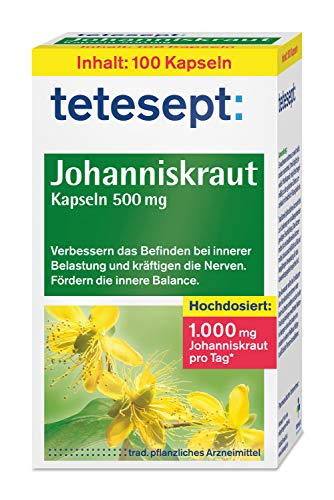 tetesept Johanniskraut Kapseln zur Stabilisierung bei innerer Belastung - verbessern das Befinden...