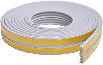 SANKA Afdichtingstape voor deuren, rubberen afdichting, zelfklevend, schuimrubberen band, bescherming tegen lawaai, 10 m