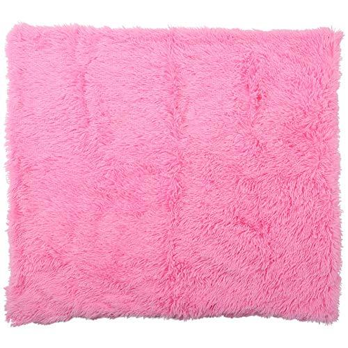 Eosnow Material de vellón de Coral Cojín para Mascotas de vellón de Coral Suave, Perro Enemigo y Gato(Rose Red, L)