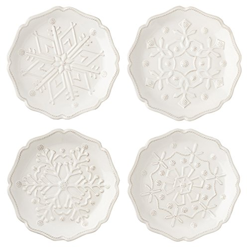 Juliska Berry & Thread Snowfall Whitewash Party Plates
