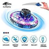 Mini Drone UFO Flying Toy pour Enfants et Adultes Contrôlée à la Main FlyNova Ballon Volant, USB Recharger Avion Interactive Intérieur Hélicoptère avec 360 ° Rotation et 5 Lumières LED Jouet (Bleu)